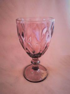 PINK / PLUM WINE GLASS