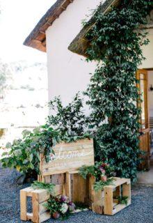 canapés and garden signage