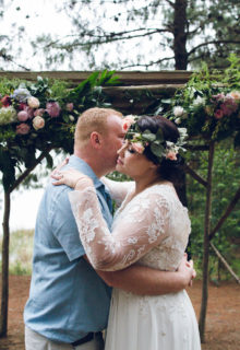 arches and hanging florals, Michelle & Patrick's