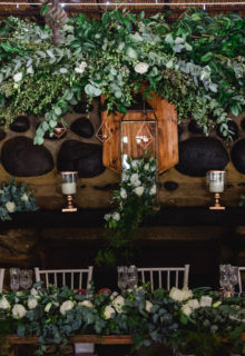 arches and hanging florals
